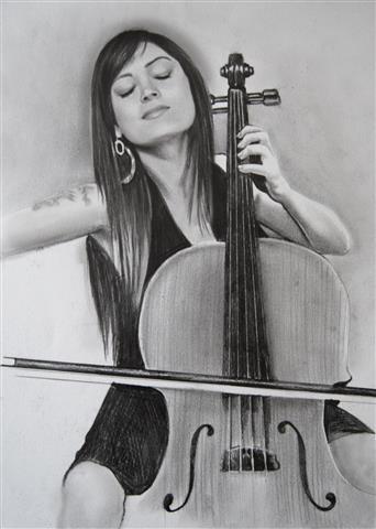 karakalem-müzisyen